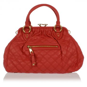 Quilted Leather hand Bag STAM CORAL