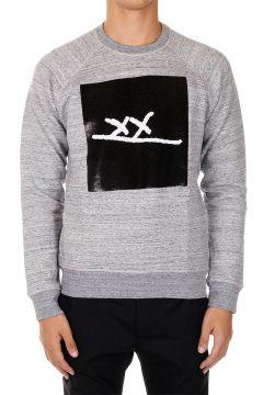Rundhals Sweatshirt mit Pailletten