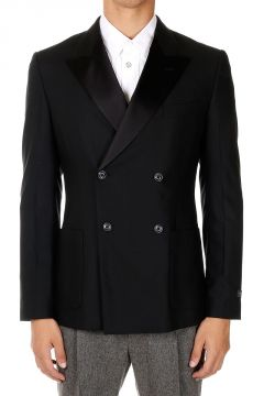Virgin Wool Double Breasted Blazer