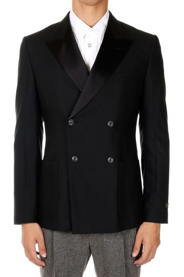 Virgin Wool Double Breasted Blazer