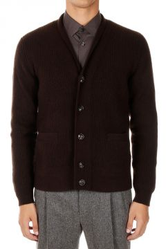 Wool and Cashmere Knit Cardigan