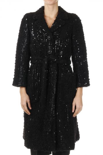 Cappotto in Misto Lana con Paillettes