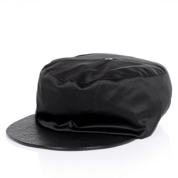 Fabric Leather Hat