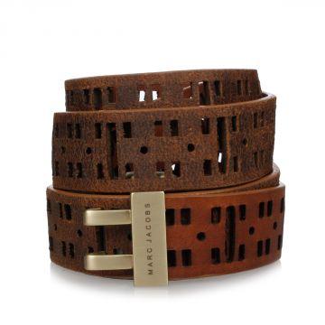 Pierced Leather Belt 30 mm