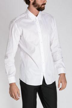 Camicia Slim Fit Popeline di Cotone