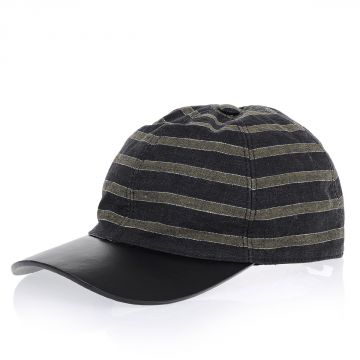 Cappello in Lino e Pelle