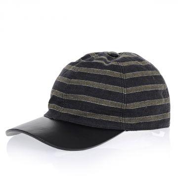 Cappello in Lino e Pelle