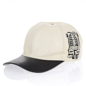 Leather Hat with Print