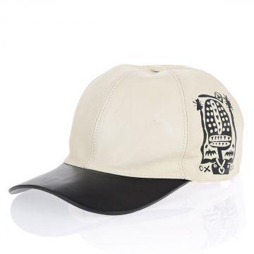 Cappello in Pelle con Stampa