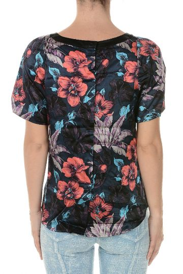 MARC BY MARC JACOBS Silk Floral Print Top
