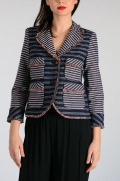MARC BY MARC JACOBS Striped Cotton Blend Blazer