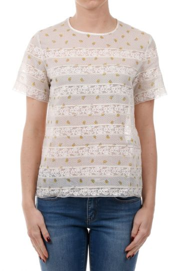 MARC BY MARC JACOBS T-shirt con Inserti in Pizzo