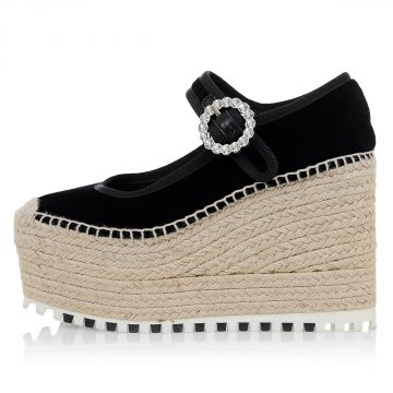 MARC BY MARC JACOBS Zeppa Espadrilles In Velluto