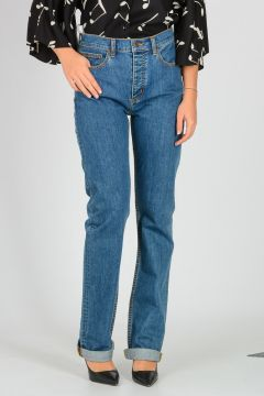 Cotton Denim Relaxed Jeans 20 cm