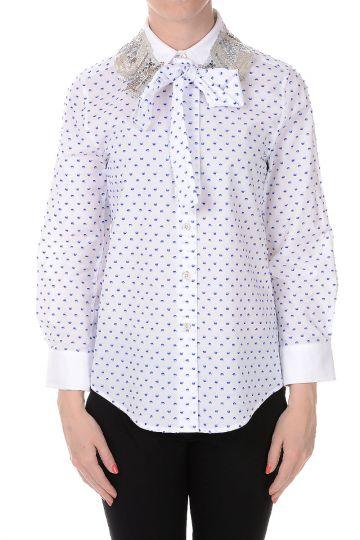Camicia in Cotone Ricamata