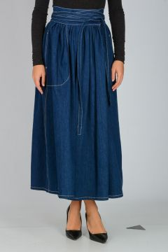 Gonna in Denim di Cotone Stretch