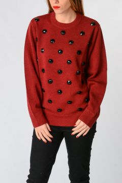 Embroidery Round Neck Sweatshirt