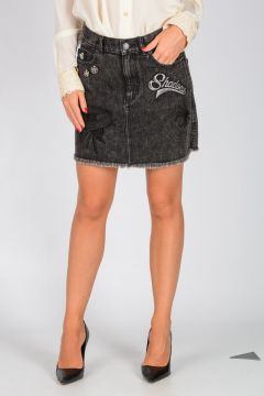 DISNEY Embellished Denim Mini Skirt