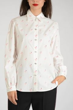 Pelican Embroidered Blouse
