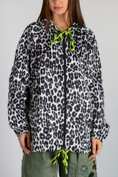 Hooded Leo Printed Jacket