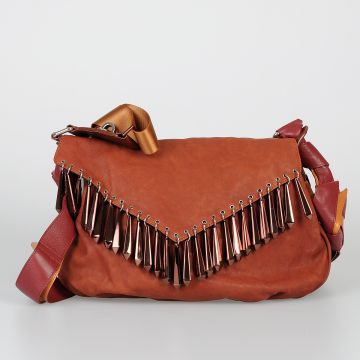 Leather IMOGEN Shoulder Bag with Pendants