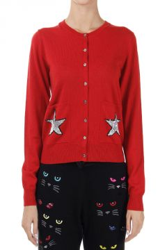 "Cardigan con Stampa ""STAR"" in paillettes"