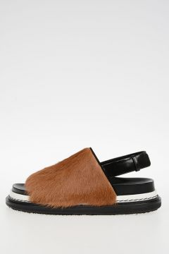 Pony skin Leather FUSSBETT Flip Flop