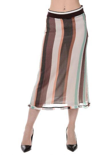 Stretch Silk Straight Skirt