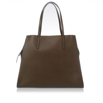 Saffiano Leather Shopping Bag
