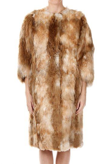 Cappotto in Pelliccia di Alpaca