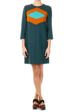 Virgin Wool Tunic Dress