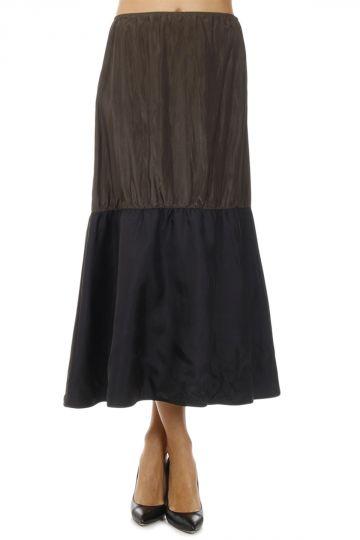 Silk Blend PONGE Skirt