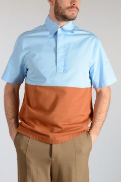 Short Sleeve Bicolor Shirt