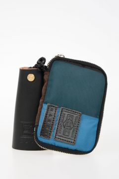 PORTER Fabric Wallet with Leather Keychain