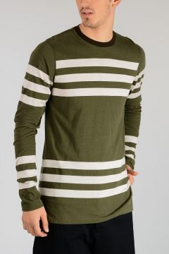Striped Cotton Long Sleeves Shirt