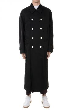 Cotton Blend Long Trench