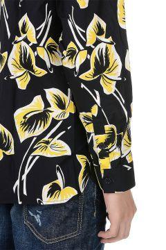 Camicia Stampata in Popeline di Cotone