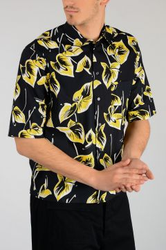 Flowered Short Sleeves Shirt