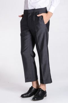 Wool & Mohair Cropped Pants