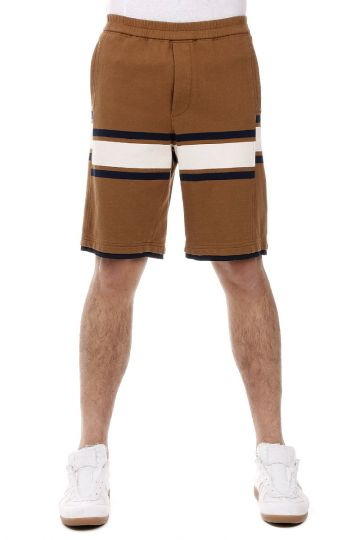 Shorts a Righe in Cotone