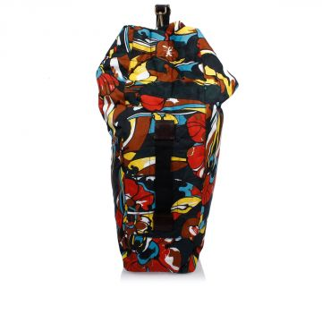 Floral Printed Duffle Nylon Bag