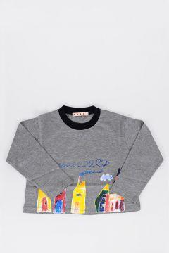 T-shirt Stampata Con Manica Lunga
