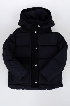 Virgin Wool Details Down Padded Jacket