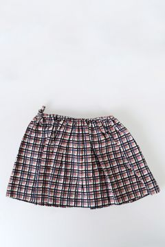 Checked Cotton Skirt