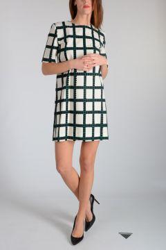 Checked Printed Mini Dress