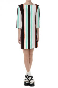 Cotton Tunic Striped Dress
