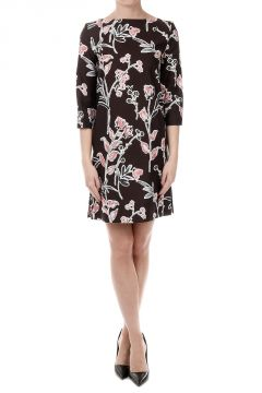 Silk Blend Floral Pattern Dress