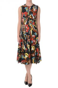 Cotton Floral Printed Midi Dress