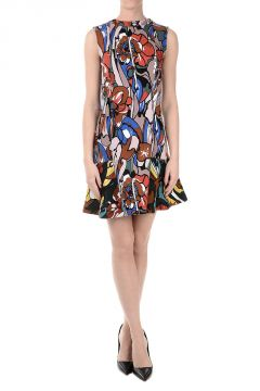 Printed POWDER Flared Dress
