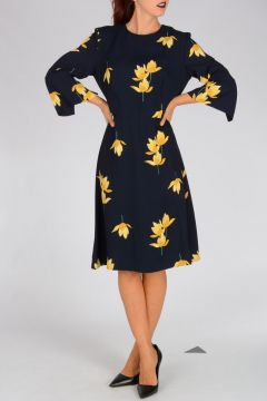 Floral Pattern Viscose Dress